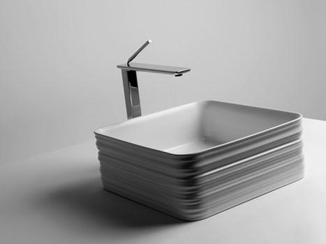 aaa lo studio v+t firma la collezione trace per valdama e le brave massaie si preoccuperanno dell'igiene con tutte quelle scanalature!