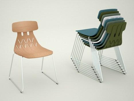 aasalone sedia milla in multistrato impilabile di crassevig colore e cura dei dettagli