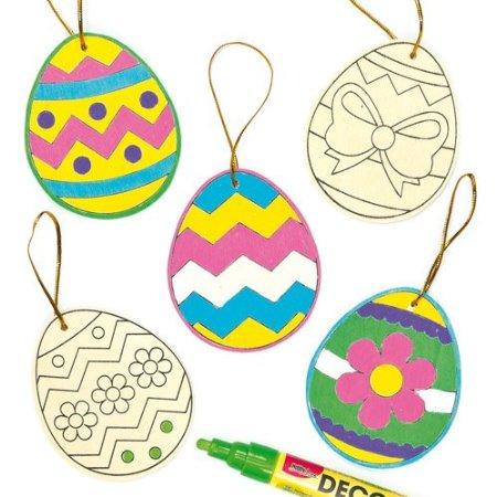 .amazon Uova di Pasqua in legno da decorare e riempire con i dolcetti pasquali, per bambini (confezione da 10)