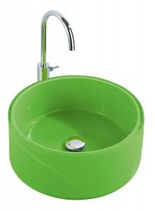 .amazon di Wenko 18921100 Tropic - Lavandino tondo per bagno, colore Verde
