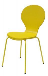 .amazon sedia con compensato, opache, cuscino seduta in similpelle, struttura in metallo,