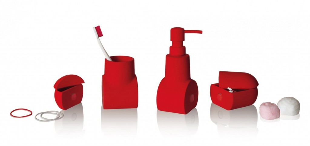 Divertentissimo il set da bagno Seletti composto da 4 elementi ...