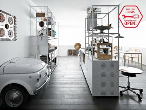fuorisalone laboratorio per reinterpretare meccanica marchio demode engineered by valcucine per una cucina OPEN