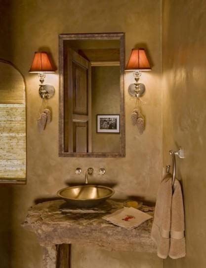 mobili di recupero lavabo-in-metallo
