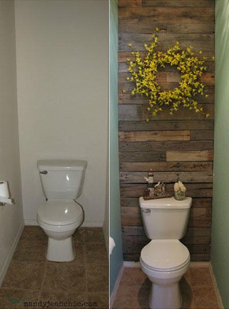 parete assi di legno recuperate
