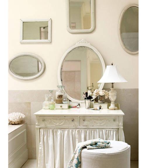 parete specchi, mobile tendina