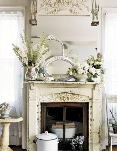 Vintage-Ideas-Fireplace-Mantel