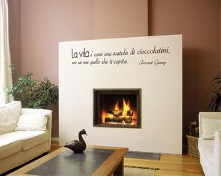 .amazon Decoramo - Adesivi murali - wall stickers - forrest gump - nero 26.00