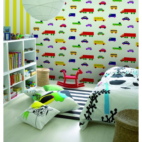 decorazione parete cameretta carta da parati marimekko (1)