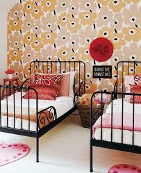 decorazione parete camerette carta da parati marimekko