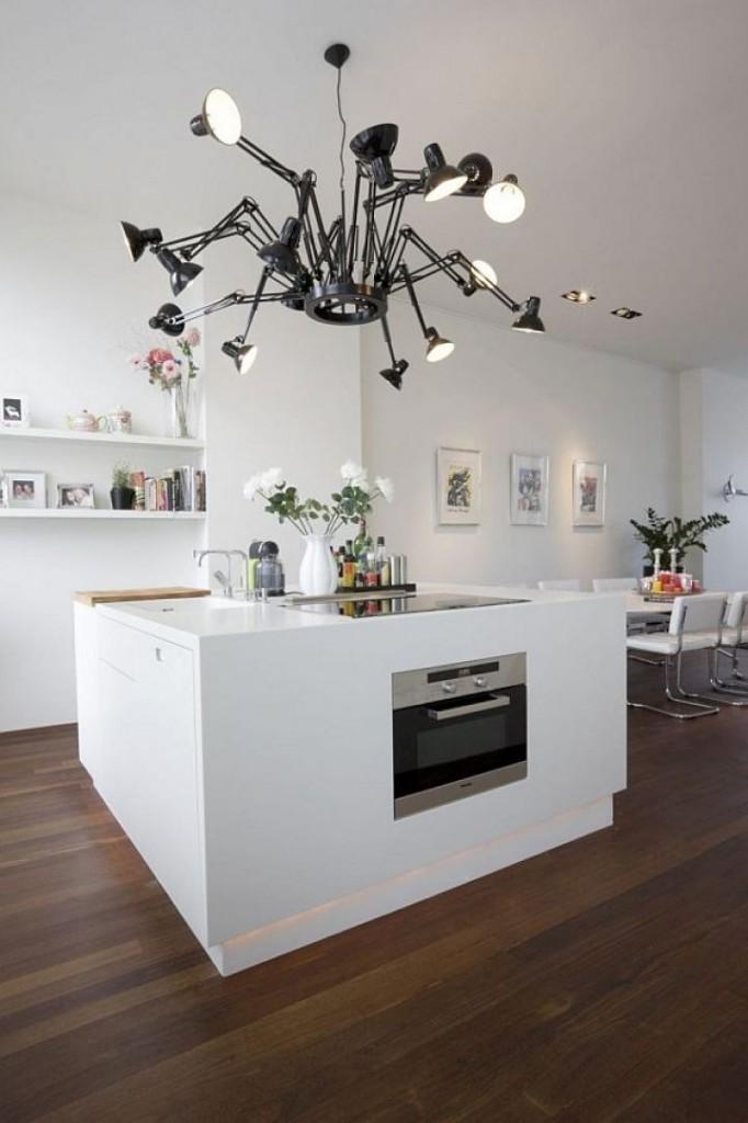 monoblocco corian Rinnovato di recente da Hofman Dujardin Architects l'appartamento a P.C.Hoofstraat, Amsterdam