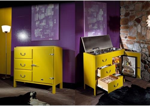 Cucina a vista cucina da esibire architettura e design - Mobile cucina a scomparsa ...