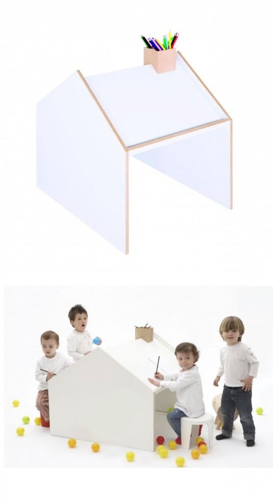 zzbimbi Tavolo da disegno - Deskhouse Designer Alberto Marcos poer ninetonine 254.00 e. non solo una casetta per giocare ma anche una scrivania per studiare e colorare