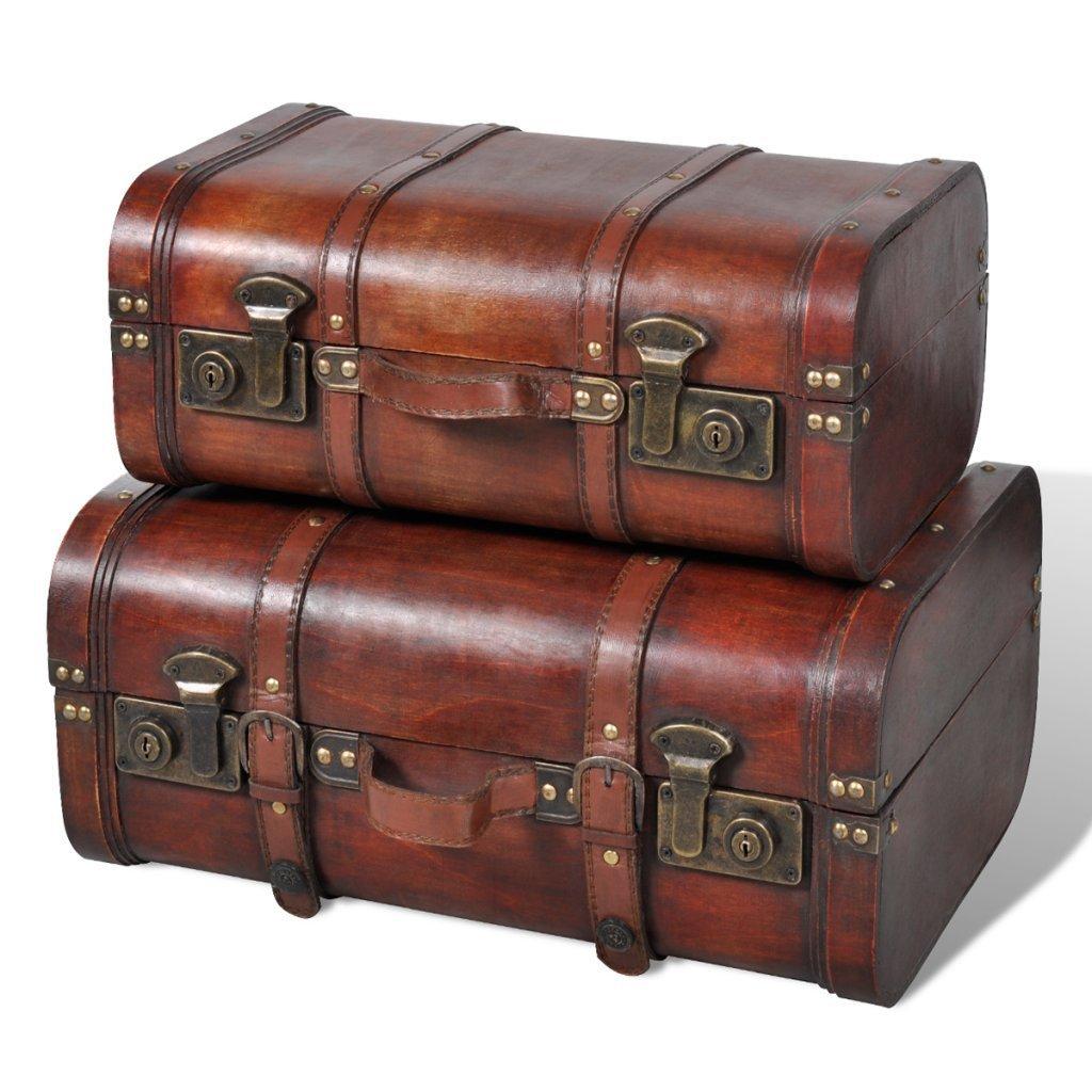 .amazon set due bauli stile vontage in legno