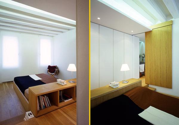 integrati testata comodino Realizzato su disegno dall'architetto Andrea De Eccher