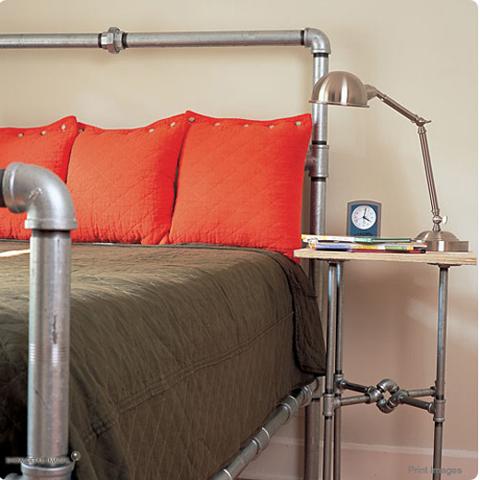 recupero creativo Orditure per letti e comodini con tubi di recupero