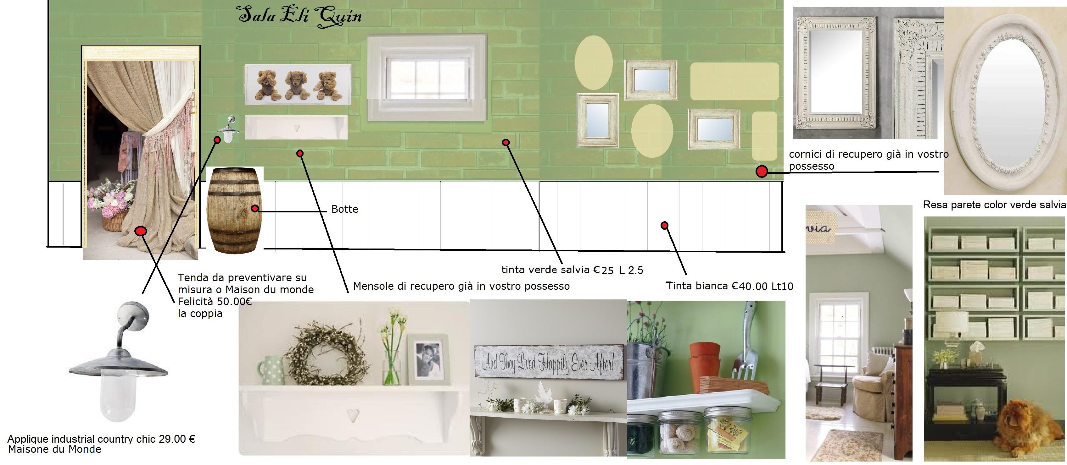 Cheap pittura pareti shabby chic nuova cucina con meno di - Pitture lavabili per cucine ...