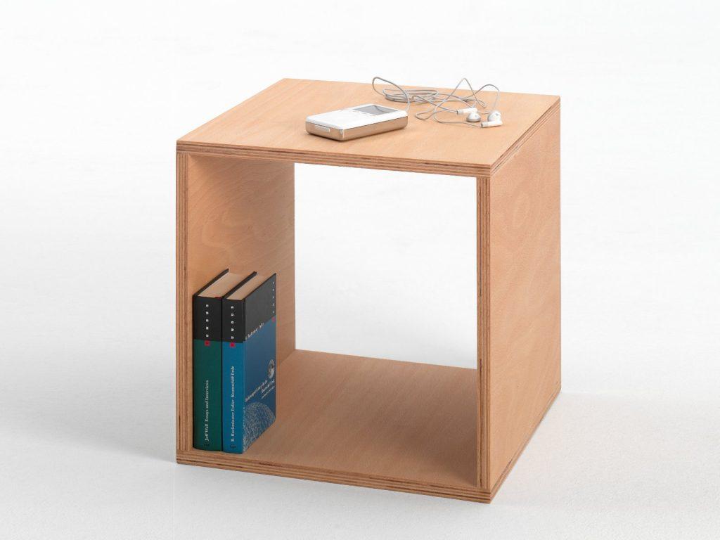 zdesign comodino in faggio cube di Tojo Möbel