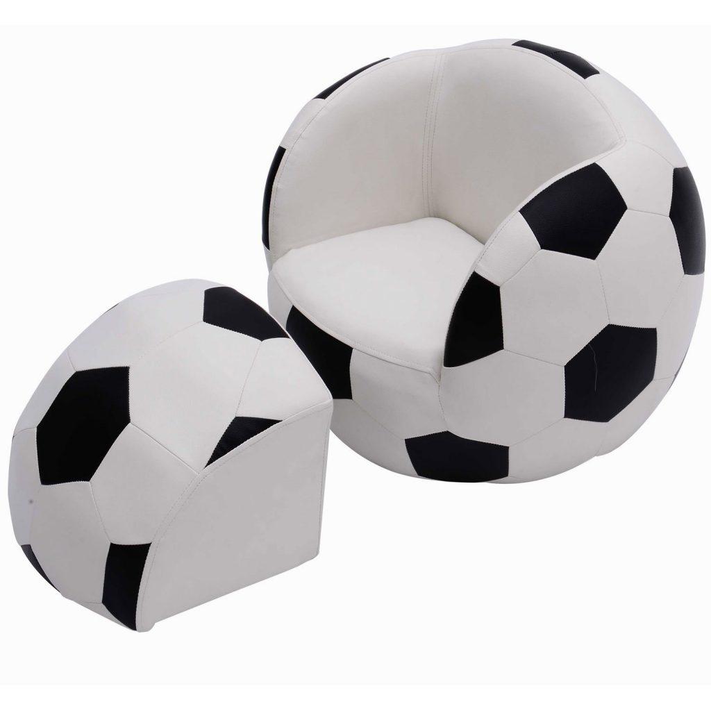 .amazon poltrona pallone homcom - Poltrona modulare per bambini, con poggiapiedi Divano calcio