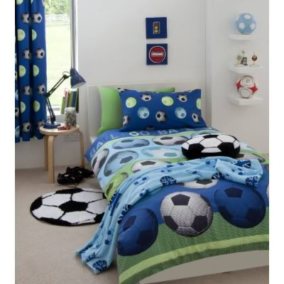foot soccer-bedding-blue