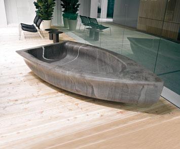 zdesign Antonio Lupi si avvale della creatività di Anne e Patrick Poirier per Vascabarca Barcavasca, la singolare e preziosa vasca da