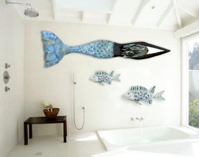 zinterno mermaid wall art