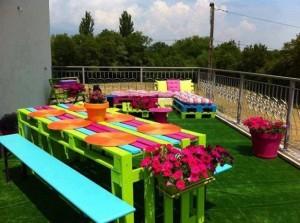 giardino e pranzo