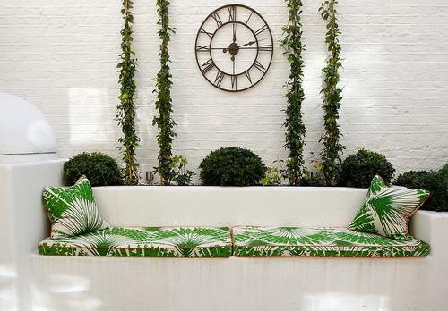 collezione Palma Outdoor di christopher farr divano muratura