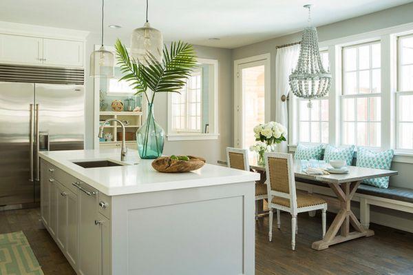 Decorating Ideas Green Kitchen Sofa Palm Leaves Blumendeko