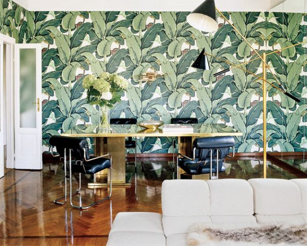 decorating-ideas-green-study-Wallpapers-pattern-palm-leaf