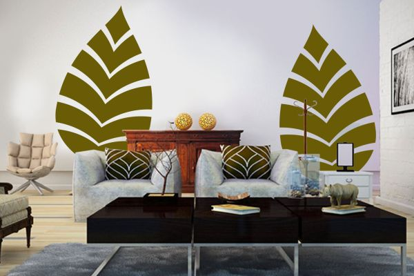 fresh-decorating-ideas-green-living-room-imprint-palm-frond-musetr-prints