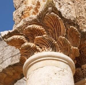 palmette su capitello corinzio del V sec