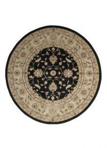 .amazon persiano rotondo Tappeti di grandi dimensioni, formato rotondo, stile persiano, colore nero e beige - Zielger