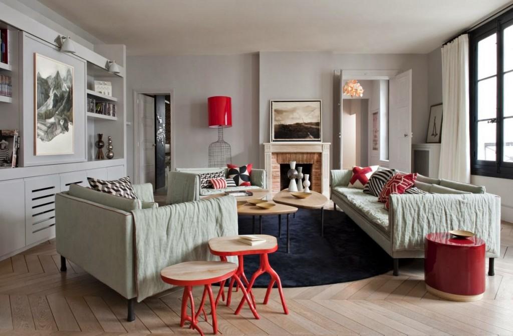 telo1 e cuscini appartamento a parigi