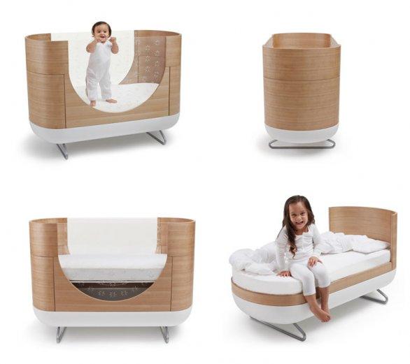 trasformabile8 Due in uno, pronti per le diverse fasi della crescita, Pod Cot e Junior Bed