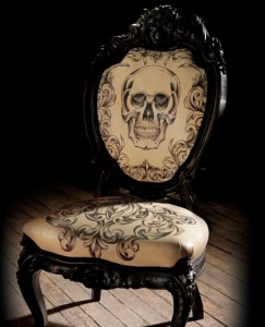 Awesome-spooky-skull-chair-halloween-furniture-ideas-with-skull-pattern-featuring-wooden-and-classic-shape-design-ideas