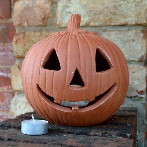 .amazon lanterna di teracotta a forma di zucca di hallowen