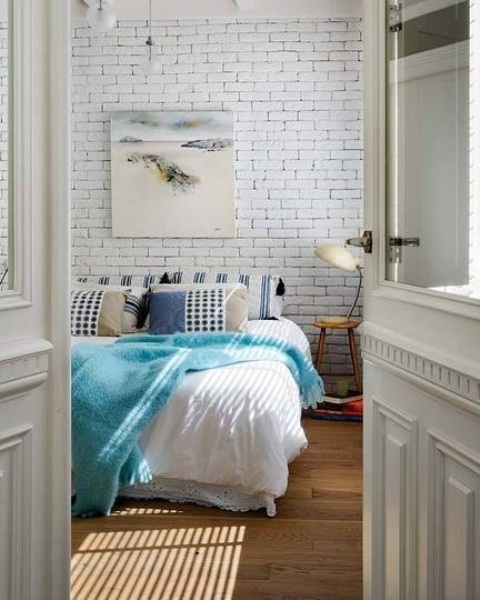 camera da letto impressive-bedrooms-with-brick-walls-39