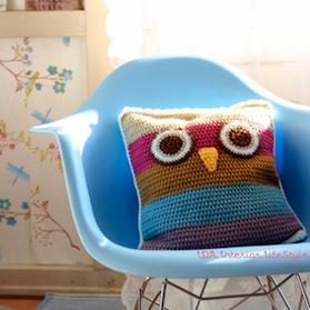 complementi cuscino gufo realizzato da ilaria-chiaratti