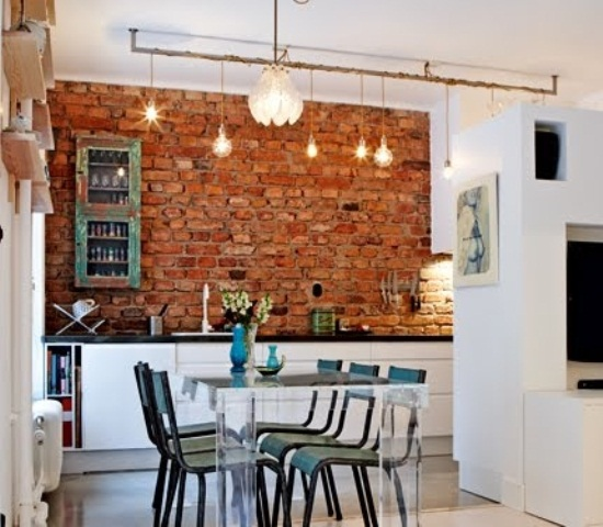 contemporaneo rossi cucina stylish-kitchens-with-brick-walls-and-ceilings-30