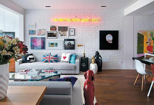 contemporaneo salotto modern-living-room-design-white-painted-brick-wall-8