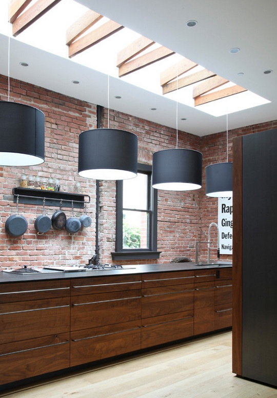 cucina stylish-kitchens-with-brick-walls-and-ceilings-35