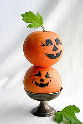 idea stile mandarini mascherati da zucche