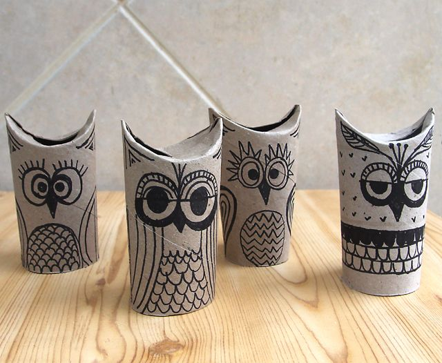immagine DYD tiolet paper rolls ;owl doodles