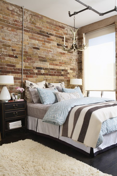 industriale letto nimpressive-bedrooms-with-brick-walls-18
