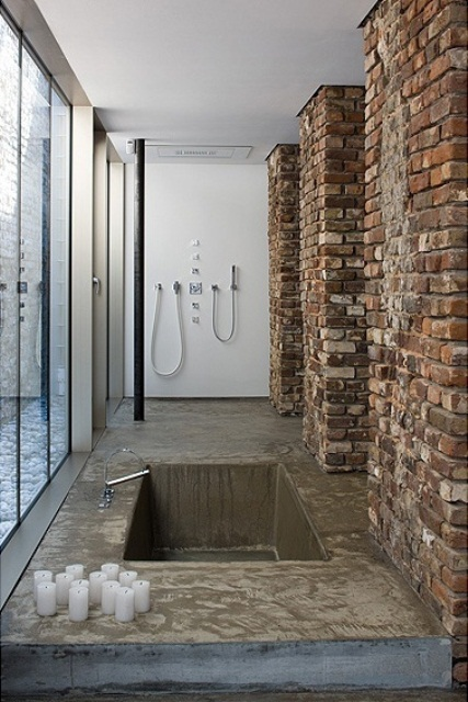 muro vero bagno stylish-bathrooms-with-brick-walls-and-ceilings-19