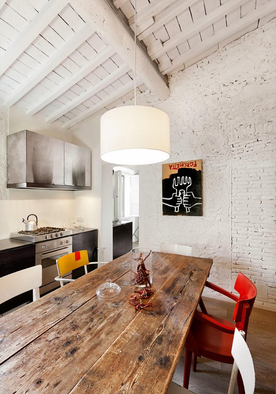 Salone Open Space Con Rivestimento In Pietra Interior Design ~ Trova le Migliori idee per Mobili ...