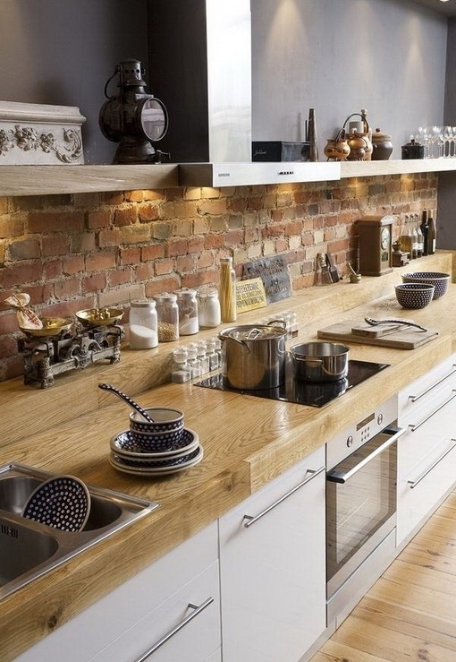 rustico cucina stylish-kitchens-with-brick-walls-and-ceilings-72
