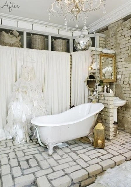 shabby imbiancati grezzi bagno stylish-bathrooms-with-brickmm-walls-and-ceilings-13