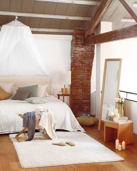 shabby rustico romantico letto impressive-bedrooms-with-brick-walls-62
